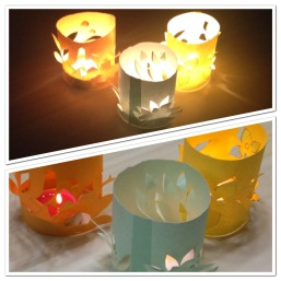 how to use kraft paper to make candle covers