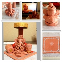 DIY Ganesha (Elephant God) Clay Idol!!