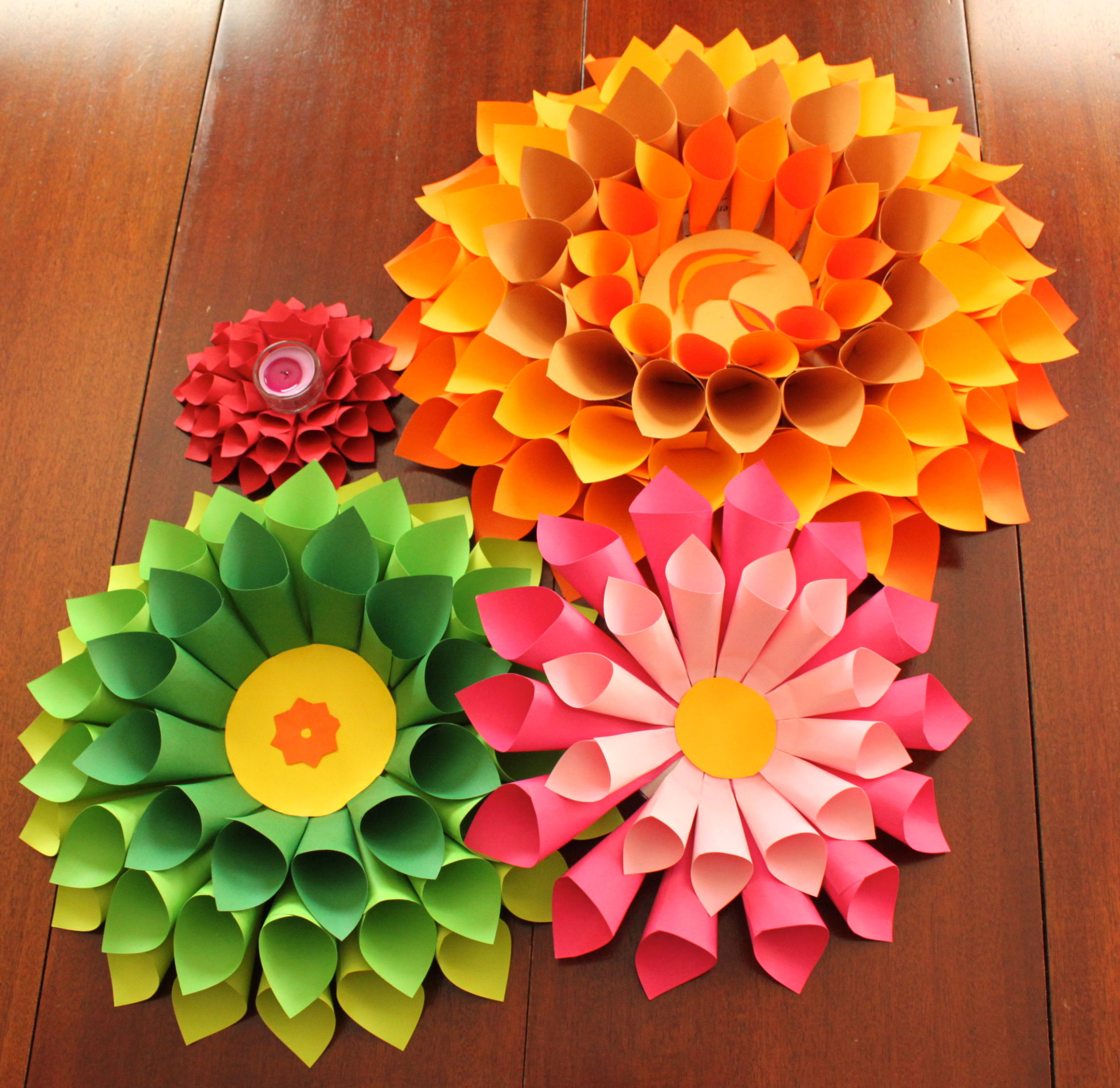 Dramatic dahlia diwali s4 creative me for Art and craft for diwali decoration