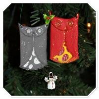 DIY Owl Christmas Ornament