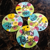 DIY Cardboard Coaster Ornaments!