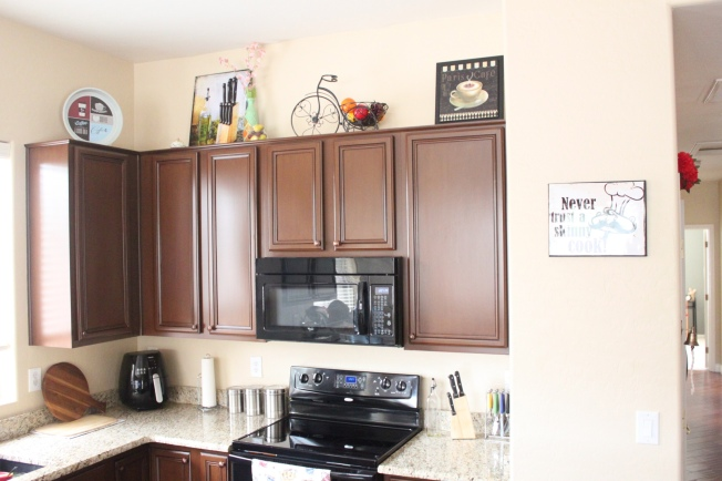 Space Above Kitchen Cabinets!! | CREATIVE ME