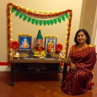 Saree and Pallu set for Varalakshmi Vratham!