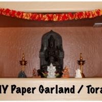 DIY Crepe Paper Garland / Toran
