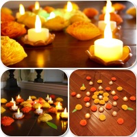 Diwali candle holders...