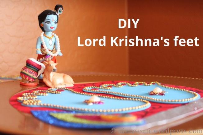 lord krishna s feet diy for janmasthami creative me