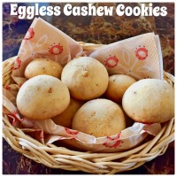 Eggless cashew cookies !!