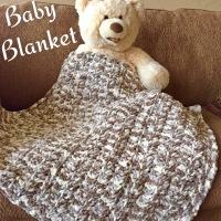 Chunky & Soft Crochet Baby Blanket