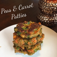 Carrot & Pea patties for Baby/Toddler